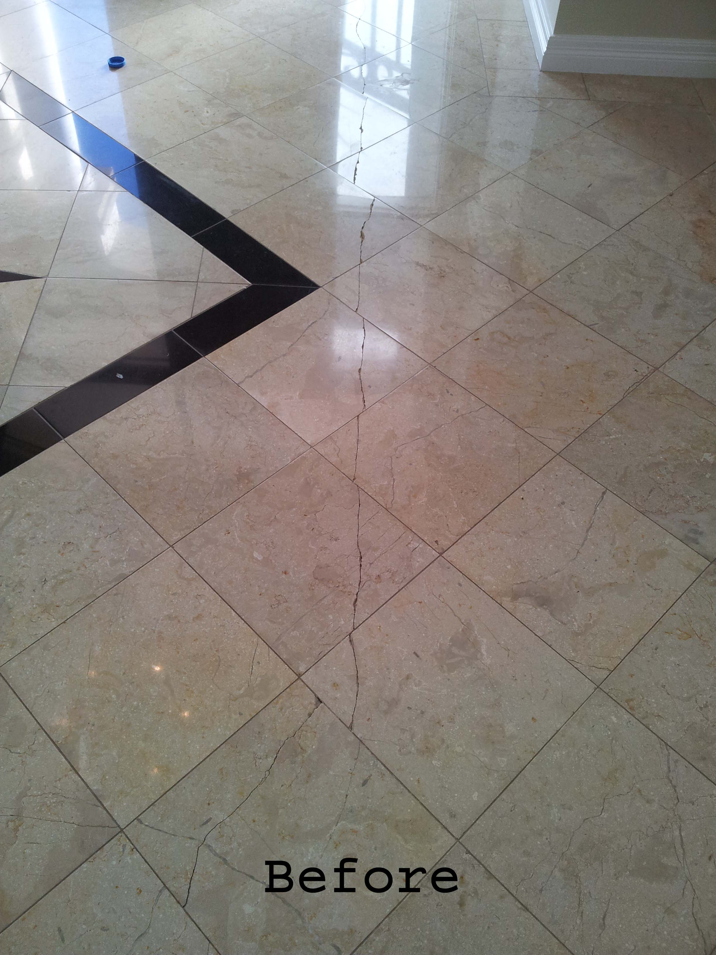 Crack Repairs To Marble And Natural Stone Tiles