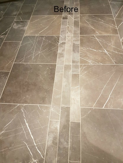 Wet look sealing granite, marble, limestone, travertine, bricks, pavers,  floors ...