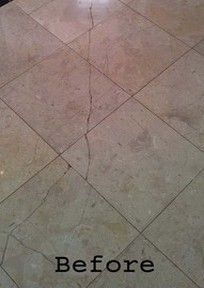 Repairing cracked & damaged marble, limestone, travertine, sandstone, granite & tiled floors in Brisbane, Gold Coast, Sunshine Coast, Tweed Heads & all of SE Queensland